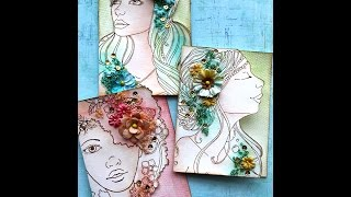 Watercolor Bloom cards with Cari Fennell on Live with Prima