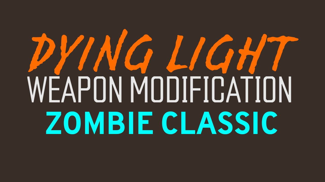 Dying light zombie classic blueprint youtube malvernweather Image collections