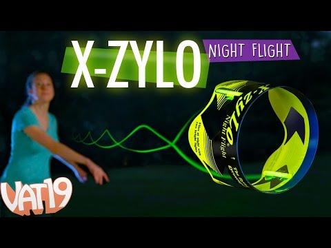 Glowing Gyroscope Travels 600 Feet!