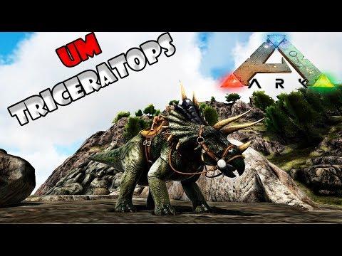 DOMEI UM TRICERATOPS!! --- ARK: SURVIVAL EVOLVED GONDWANA #02