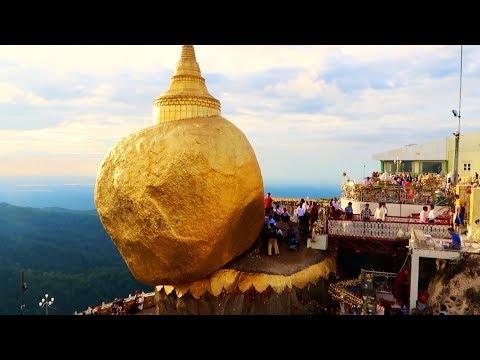 MYANMAR TRAVEL TIPS - The GRAVITY-DEFYING Sacred GOLDEN ROCK!!
