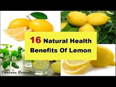 Top 16 Natural Health Benefits of Lemon