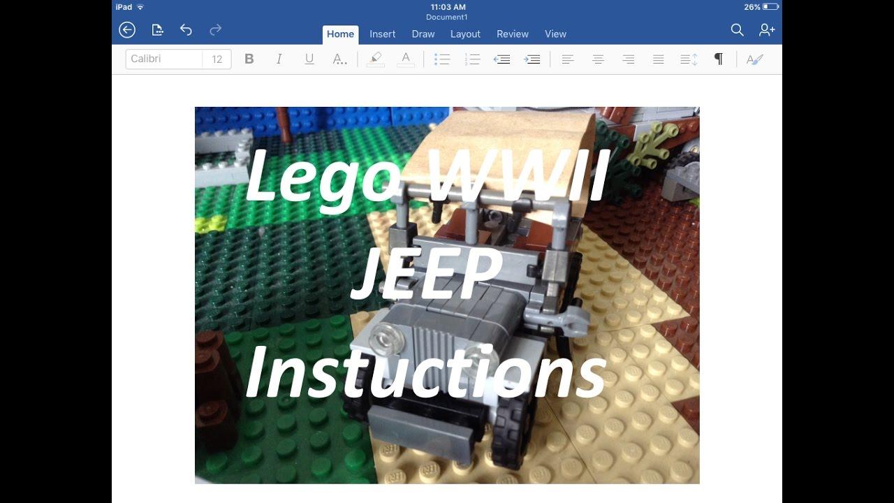 How to make A lego World war II jeep (Brickmania Hybrid design)