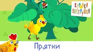 Прятки - КУРОЧКА-ПЕСТРУШКА детские развивающие песенки про животных