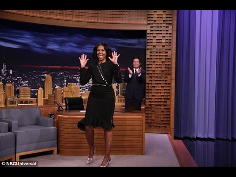 Michelle Obama bids farewell on ´The Tonight Show´ after getting serenaded by Stevie Wonder