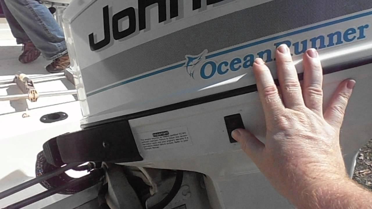 115hp v4 johnson oceanrunner demo of electric engine lift trim rh youtube com 1998 johnson 200 hp ocean runner manual 1998 johnson 200 hp ocean runner manual