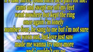 Jennifer Lopez- One love, lyrics on screen