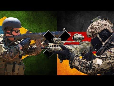 Brasil x Alemanha - Comparação Militar