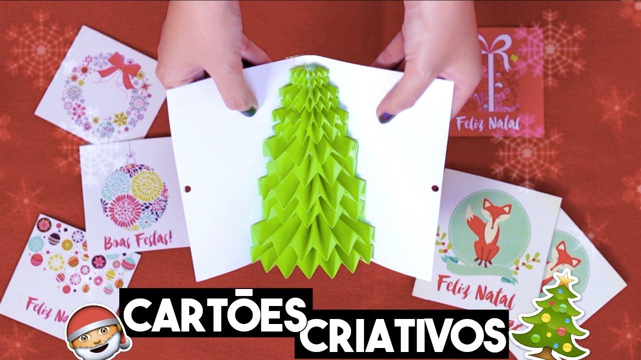 Diy Especial Natal Cartões De Natal Criativos E Fáceis