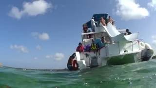 Water Slide off Party Boat in Dominican Republic 2015