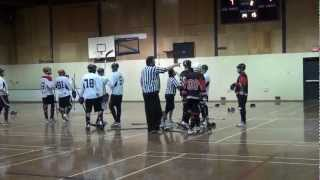 Ball Hockey Fights - Ball Hockey Brawls - Surrey Crooks vs. Pacific Jaguars (UFC Version - Raw)
