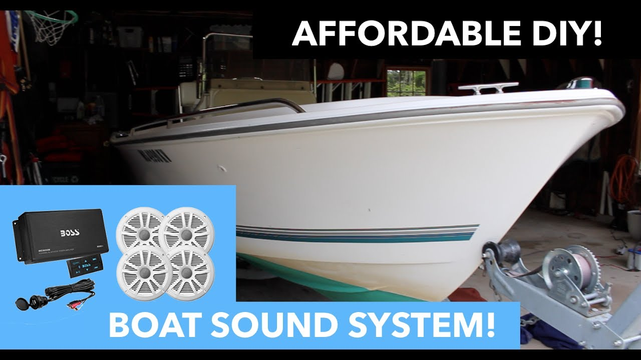 boat speaker installation // boss audio ask904b 64
