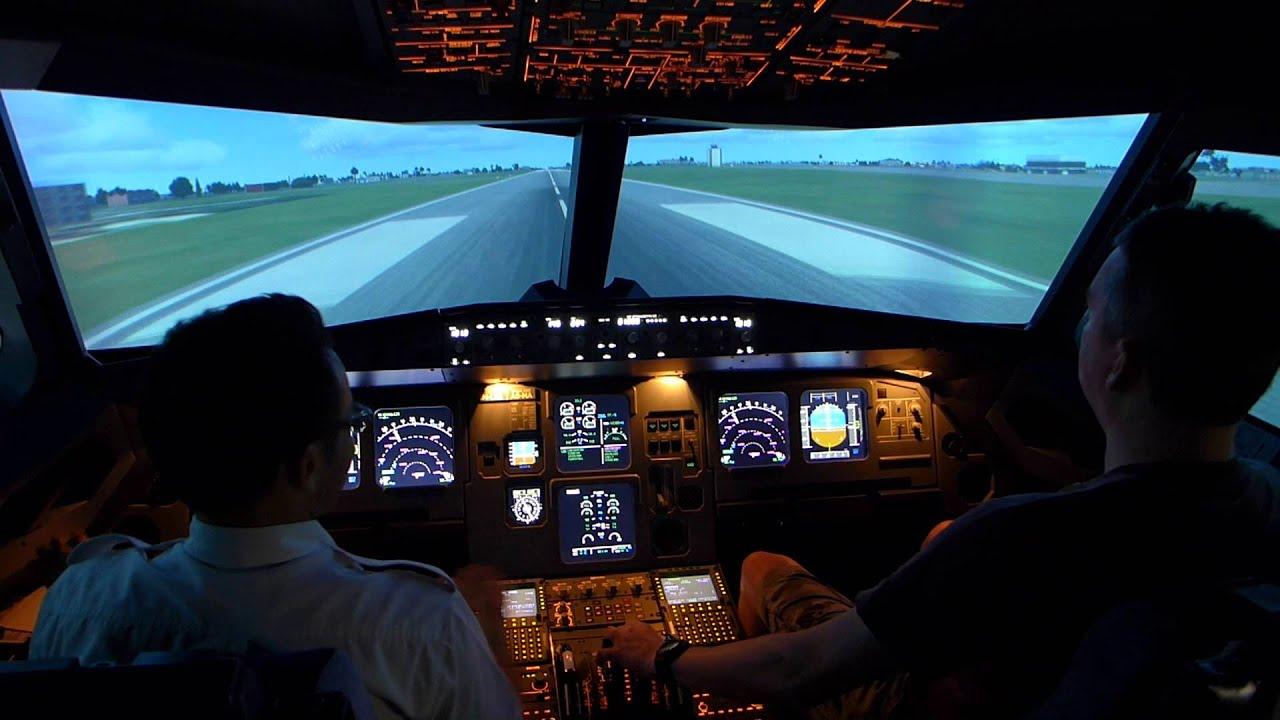 Airbus A320 Landing, Subang Flight Sim, KL