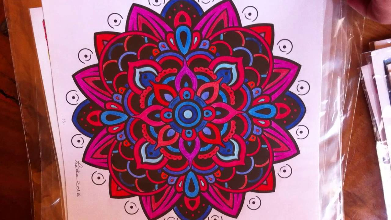 12 07 2016 Desenhos Mandalas Coloridas Eidia Dias Youtube