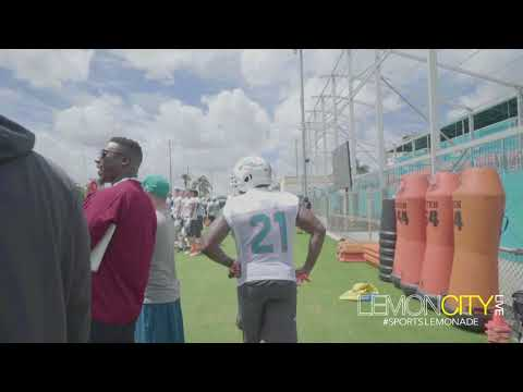 Miami Dolphins Host Coral Gables Senior High School at OTA Practice