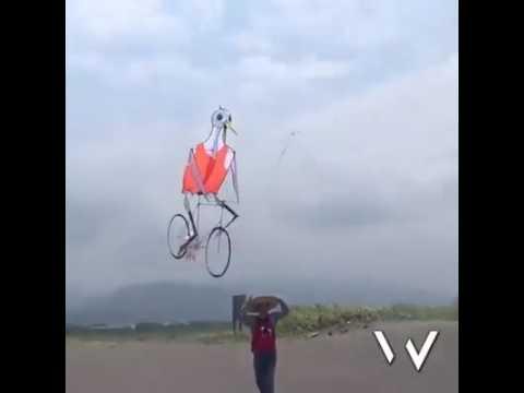 Cycling kite (duck )👌👌