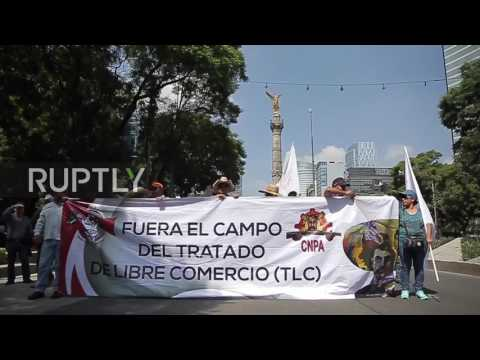 Mexico: Ten thousand farmers descend on Mexico City to protest against NAFTA