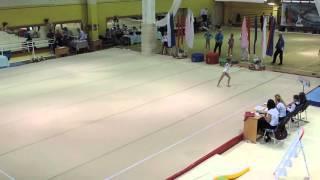 Олимпийские надежды 2015. 1 разряд. Вольные. Листунова Вика. 14,250. 1 место