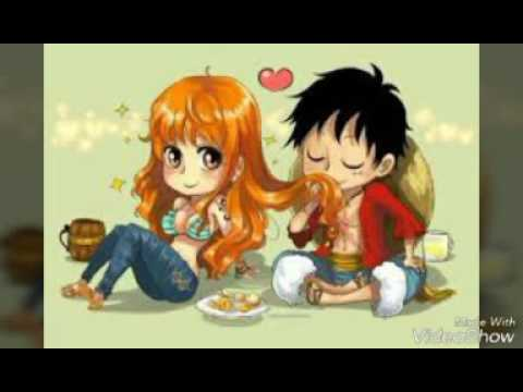 One piece Luffy x Nami (romantic moments) - YouTube