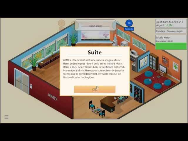 Sans Commentaire: Game Dev Tycoon Partie 10 1080P/60FPS