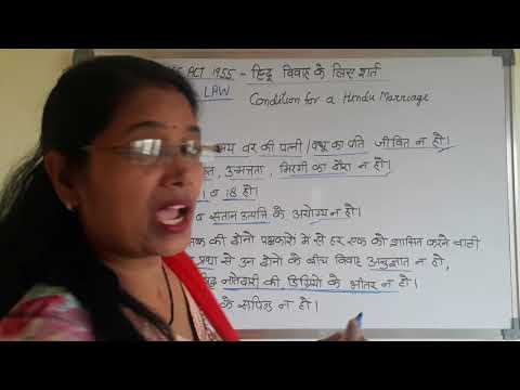 Condition  for Hindu Marriage Accoroding to Hindu Marriage Act 1955 section 5