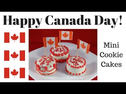 Canada Day Mini Cookie Cakes