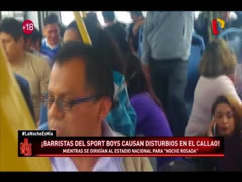¡Barristas del Sport Boys causan disturbios y pánico en el Callao!
