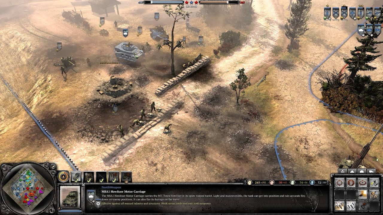 CoH  Gameplay Custom Map Kursk V USF YouTube - Usf location map