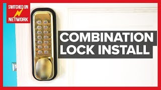 How to Install a Digital Push Button Keyless Entry Combination Door Lock