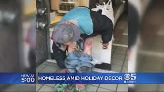 Holiday Decorations Can't Hide Homeless Situation In San Francisco Union Square