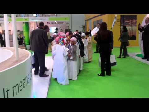 Wave Star presenting wave energy in Abu Dhabi - Atmosphere at the World Future Energy Summit