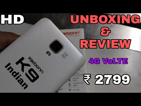 Karbonn K9 indian || Unboxing and Review- Hindi