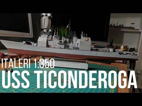 1/350 USS Ticonderoga CG-47 Aegis Cruiser Italeri Kit Build Part 1