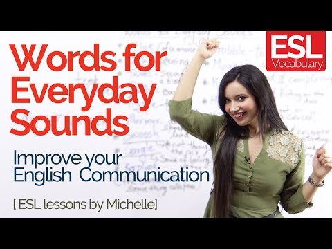 Learn Funny English Words For Everyday Sounds