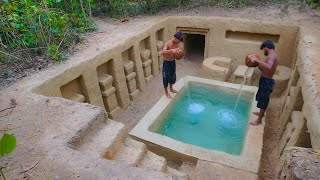 Build The Most Amazing Underground Swimming Pools & Tunnel House