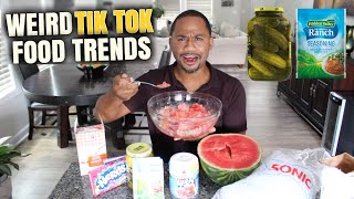 Trying WEIRD Food Combos *TIK TOK EDITION*   Alonzo Lerone