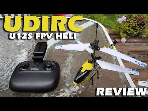 UDIRC U12S WIFI FPV Helicopter Review