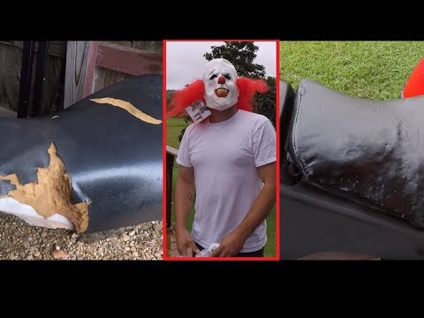 How to Fix Torn ATV Seat: Hole & Rips Cheap n Easy HEY MARTIN LOOK!!