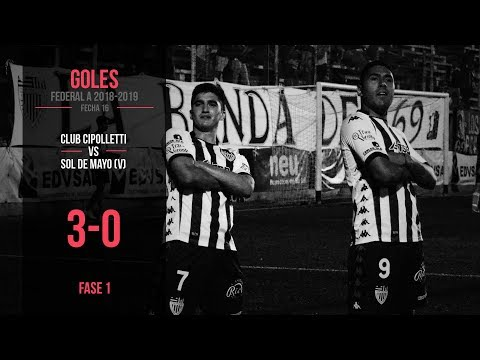 Federal A 2018-2019: Cipolletti 3 – 0 Sol de Mayo (Goles)
