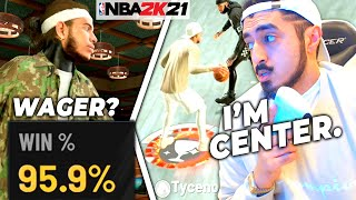 I Played a 2v2 Wager as CENTER in NBA 2K21...