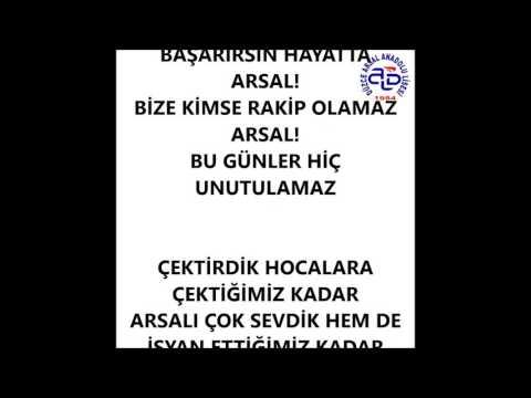 Arsal Hatırası (Mezuniyet Şarkısı)