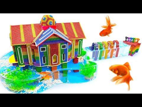 DIY - Build Amazing Guitar House Aquarium With Magnetic Balls (Satisfying) - Magnet Balls