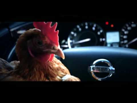 Курицы Ответ Мерседесу. Прикольная реклама Ниссан.