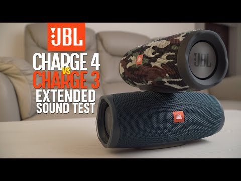 JBL Charge 4 vs JBL Charge 3 - SOUND COMPARISON