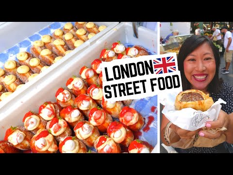 Best LONDON STREET FOOD At BOROUGH MARKET | London Food Market | British Food + What NOT To Eat
