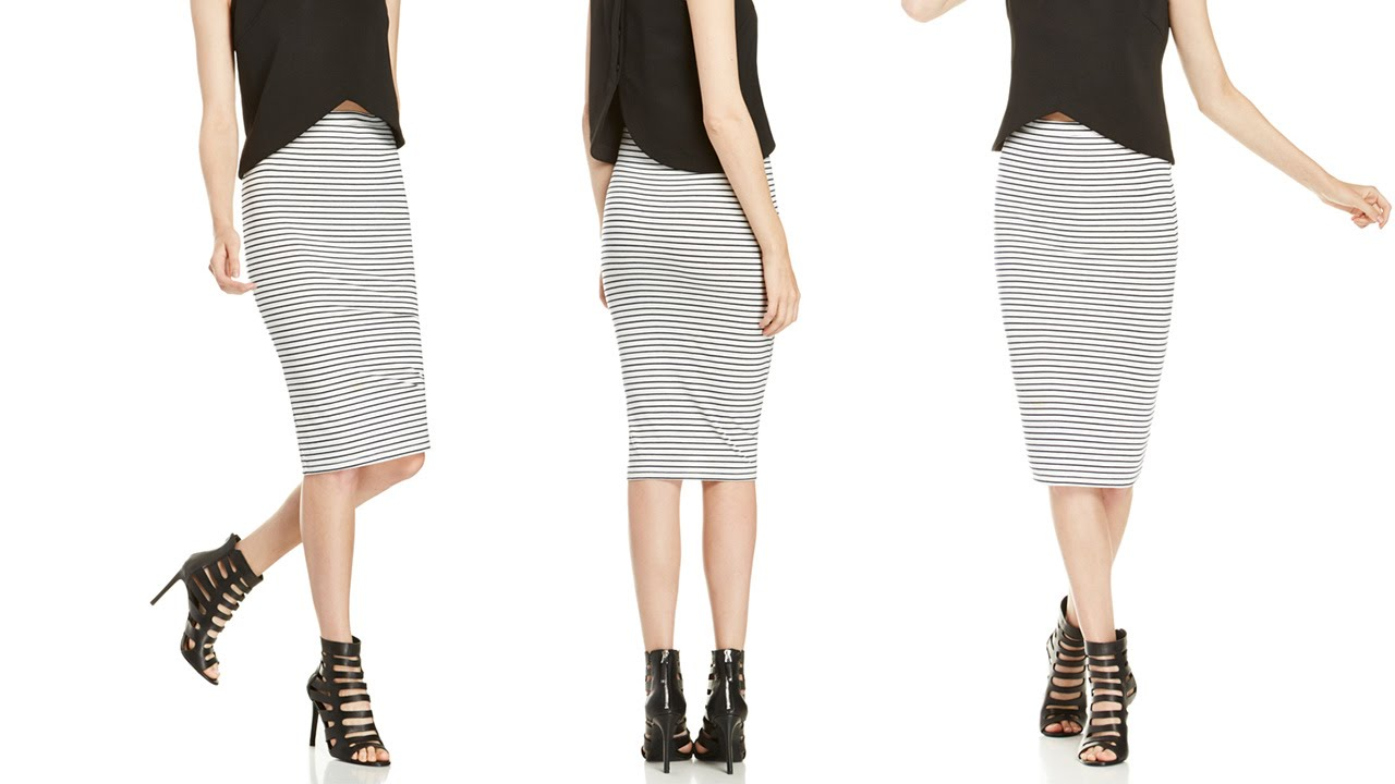 1 SKIRT, 3 LOOKS | STRIPED PENCIL SKIRT - YouTube
