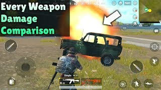 PUBG MOBILE Every Weapon Damage Comparison