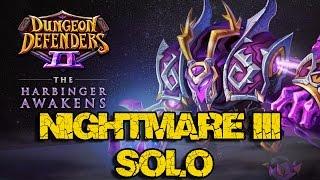 harbinger s warship solo attempt 1 nightmare iii dungeon defenders ii