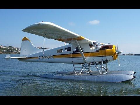 GoPro De Havilland Beaver DHC-2 Seaplane Cockpit Video - Takeoff/Landing San Francisco CA.