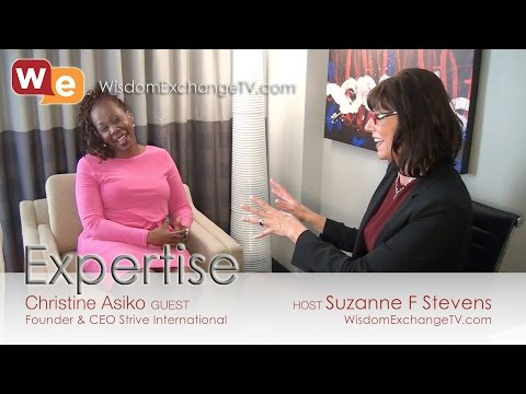 Christine Asiko on Wisdom Exchange TV with Suzanne F Stevens: Expertise